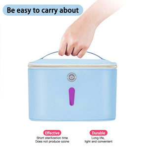 UV waterproof mobile phone travel disinfection bag Portable UV disinfection box for baby bottle / underwear /beauty tool / mask
