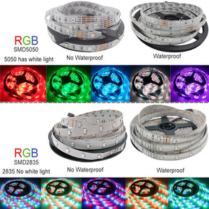 Bluetooth LED Strip Lights 20M RGB 5050 SMD Flexible Ribbon Waterproof RGB LED Light 5M 10M Tape Diode DC 12V Control
