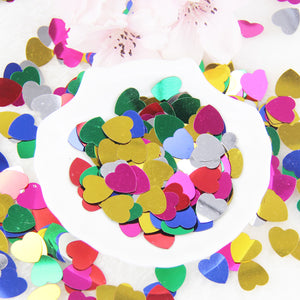 300PCS Multicolor Romantic Love Heart Wedding Party Confetti Table Decoration Wedding Decoration Birthday Party  Supplies - Kesheng special effect equipment