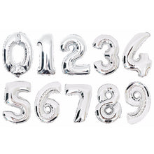 16 Inch Number Foil Balloons Digit air Ballons Birthday Party Wedding Decor Air Baloons Event Party Supplies - Kesheng special effect equipment