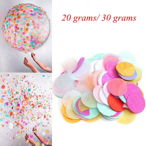 (20g/30g) Metallic Gold/Silver Tissue Circle Confetti DIY Colorful Wedding Birthday Baby Shower Christmas Party Table Decor - Kesheng special effect equipment