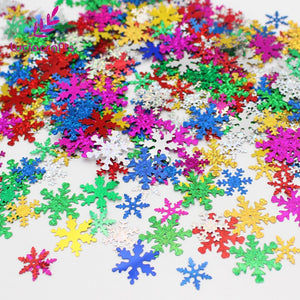 18-25mm Random mixed colors Snowflake shape Sequin confetti party Decoration 20g/lot(Approx 300pcs) - Kesheng special effect equipment