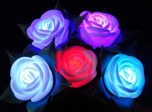 Hot Chic Garden Yard Path Lawn Power LED Rose Flower Light Decorative Light Lamp - Kesheng special effect equipment