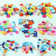 100Packs X 10g  Star / Round / Love Heart  Multi-Coloured Tissue Paper Confetti Rainbow Favors Colourful Wedding Decorations - Kesheng special effect equipment