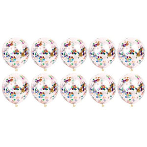 10pcs Clear Latex Confetti Balloons for Wedding Decoration Happy Birthday Baby Shower Party Supplies  Air Ballon Toys - Kesheng special effect equipment