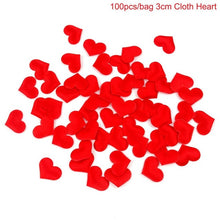 100PCS Foam Paper Heart Confetti Red Artificial Petals for Wedding Decoration Wedding Table Scatter Anniversary Decor - Kesheng special effect equipment