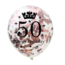 5PCS 12inch 1/30/40/50th Confetti Air Balloons Happy Birthday Party Balloon Anniversary Decorations Wedding Balon Party Supplies - Kesheng special effect equipment