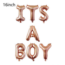 Rose Gold Baby Shower Balloon Its a Girl Boy Letter Balloon Gender Reveal Party Decorations Newborn Baby Shower Decor - Kesheng special effect equipment