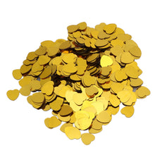 2000pcs/pack 10mm Gold Shine Sparkle Love Heart Wedding Party Confetti Table Decoration Birthday Party Supplies - Kesheng special effect equipment