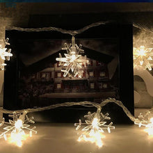 Snowflake Led String Lights LED Garland Wedding Fairy Lights Battery Operated Wedding Supplies DIY Christmas Party Decorations - Kesheng special effect equipment