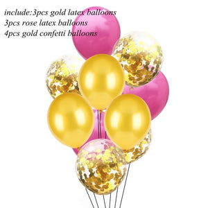 10PCS 12inch Colorful Latex Balloons Confetti Air Balloons Inflatable Ball Helium Balloon For Birthday Wedding Party Supplies - Kesheng special effect equipment