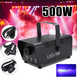 Disco Light LED 500W Remote Control Fog Smoke Machine Christmas DJ Party Stage Light Christmas Decoration RGB Smoke Projector - Kesheng special effect equipment