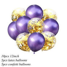10PCS 12inch Confetti Latex Balloons Happy Birthday Party Balloons Latex Balloon Decorations for Baby Shower Party Supplies - Kesheng special effect equipment