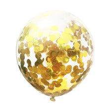 5PCS Confetti Latex Balloon 12inch Balloon Romantic Wedding Decoration Gold Foam Clear Confetti Balloons Birthday Party Supplies - Kesheng special effect equipment