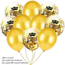 10PCS 12inch 1st Birthday Confetti Balloons Inflatable Air Balloon 18/30/40/50th Baby Shower Birthday Party Decoration Supplies - Kesheng special effect equipment