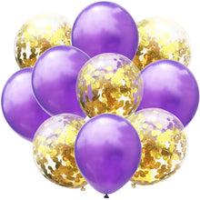 10pcs Blue Pink Gold Confetti Latex Balloons 12 Inches Party Balloons for Baby Shower Birthday Bridal Shower Wedding Decorations - Kesheng special effect equipment