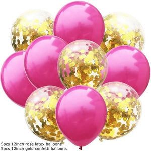 10PCS/Lot 12inch Confetti Air Balloons Happy Birthday Party Balloons Helium Balloon Decorations Wedding Ballons Party Supplies - Kesheng special effect equipment