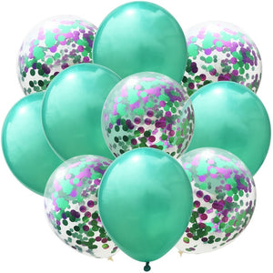 10Pcs12inch Confetti Latex Balloons Confetti Air Balloons Inflatable Ball Helium Balloon For Birthday Wedding Party Supplies - Kesheng special effect equipment