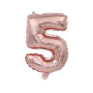 Rose Gold Theme Happy Birthday Heart Star Foil Latex Confetti Balloon 32inch Number Foil Balloon Birthday Party Decor Supplies - Kesheng special effect equipment