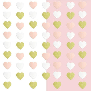 1PC 2.2M Lovely Pink Heart Paper Garlands DIY Bunting Banner Wedding Wall Decor Birthday Party Supplies Girls Bedroom Decoration - Kesheng special effect equipment