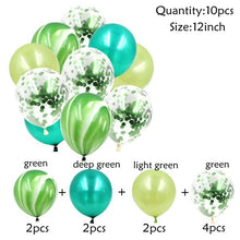 10PCS 12inch Colorful Multi Latex Confetti Air Balloons Inflatable Ball Helium Balloon Happy Birthday Wedding Party Decorations - Kesheng special effect equipment