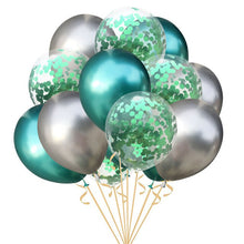 15Pcs Mixed Metallic Latex Balloon Gold Confetti Balloons Birthday Party Decoration Air Ball Baby Birthday Wedding Party Decor - Kesheng special effect equipment