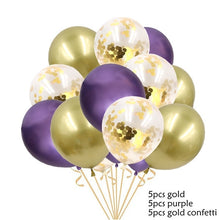 15PCS 12inch Metallic Colors Latex Balloons Confetti Air Balloons Inflatable Ball For Wedding Birthday Party Decoration Supplies - Kesheng special effect equipment