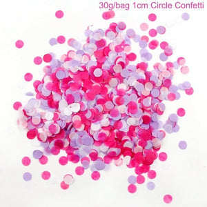 1cm 30g/bag Bright Colors Round Tissue Paper Confetti Sprinkles Dots Filling Balloons Happy Birthday Party Decorations Kids - Kesheng special effect equipment