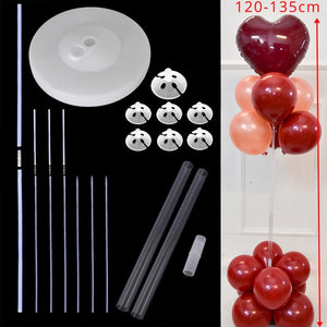 Balloons Column Stand Arch Stand Home Party LED Confetti Balloons with Base Clips Wedding Decoration Balloon Holder Stick - Kesheng special effect equipment