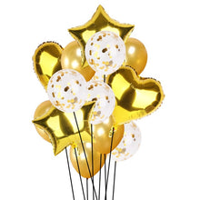 14pcs Creative Multi Confetti Air Balloons Happy Birthday Party Helium Balloon Decorations Wedding Festival Balon Party Supplies - Kesheng special effect equipment