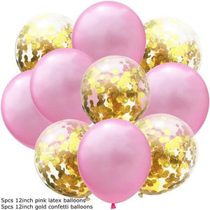 10PCS 12inch Clear Confetti Latex Balloons Birthday Ballon Star Garlands Confetti Air Balloons For Birthday Wedding Decoration - Kesheng special effect equipment