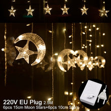 Star Moon LED String Light Ramadan Decoration For Home EID Mubarak Wedding Birthday Party Decor Supply Christmas 220V - Kesheng special effect equipment