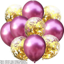 10PCS 12inch Multi Confetti Latex Balloons Metallic Air Balloons Inflatable Ball Wedding Decoration Birthday Ballon Party Decor - Kesheng special effect equipment