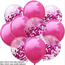 Creative Confetti Latex Balloons Air Balloons Inflatable Ball Helium Balloon Decorations Wedding Balon Birthday Party Supplies - Kesheng special effect equipment