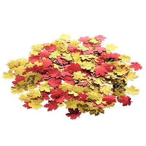 200pcs Confetti Aluminum Foil Fall Leaves Shaped Confetti Table Decor Wedding Supplies Festival Party Decoration Hone Decor - Kesheng special effect equipment