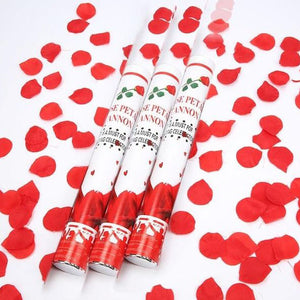 Cannon 2 Geometric Popper Confetti Types 140g Square Piece Rose Multicolor Red Wedding Petals Birthday - Kesheng special effect equipment
