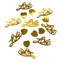 350pcs/lot Love Letter Table Scatters Confetti Party Wedding Birthday Valentine's Day Festival Decoration Sparkle Metallic - Kesheng special effect equipment