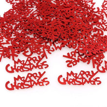 15g Sliver Red MerryChristmas HappyNewYear Confetti Birthday Wedding Party Danger Sign Mark Table Scatters Decorations Sprinkles - Kesheng special effect equipment