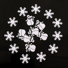 Christmas Snowman Snowflake 15g Table Confetti Sprinkles Birthday Party Wedding Decoration Sparkle Gold Silver Metallic Supply - Kesheng special effect equipment