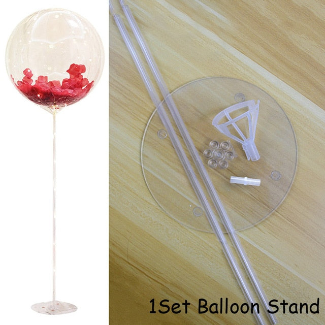1set Balloons Column Stand Arch Stand Home Party LED Confetti Balloons with Base Clips Wedding Decoration Balloon Holder Stick - Kesheng special effect equipment
