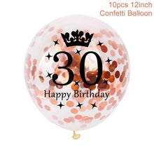 12 Inch Rose Gold Confetti Balloons 30 40 50 Anniversary Balloon Happy Birthday Party Decorations Adult Wedding Decor - Kesheng special effect equipment