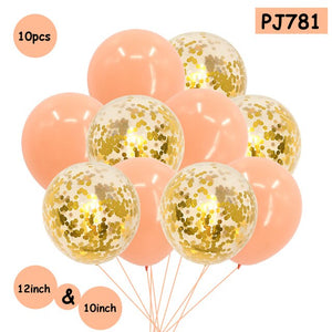 Romantic Confetti Balloons Ball Helium Balloon For Valentine's Day Wedding Party Supplies Happy Birthday Party Helium Balloon - Kesheng special effect equipment