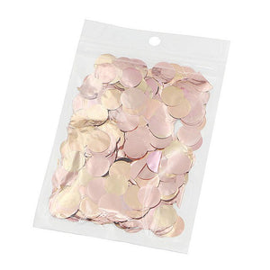 1 Pack 10g Rose Gold Foil Confetti Clear Balloon Confetti Birthday Party Transparent Ballon Confetti Wedding Decoration Supplies - Kesheng special effect equipment