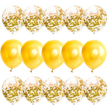 15pcs/set Rose Gold Confetti Balloons Transparent Latex Balloons for Wedding Decoration Birthday Party Baby Shower Decor Supply - Kesheng special effect equipment