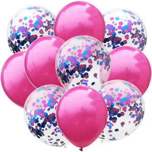 10pcs/lot 12inch Mix Confetti Balloons and Pure Colour Latex Balloons for Wedding Birthday Party Decorations Baby Shower Balloon - Kesheng special effect equipment