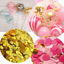 10g/bag Mini Round Colorful Rose Gold Tissue Paper Confetti for Balloon New Year Wedding Birthday Party Table Decoration E - Kesheng special effect equipment