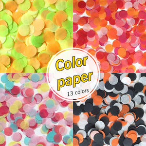 2.5cm 25g Per Bag Colorful Rose Gold Tissue Paper Confetti for Balloon New year Wedding Birthday Party Table Decoration - Kesheng special effect equipment