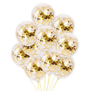 1pcs confetti huge balloon 18inch transparent latex balloon with gold and silver confetti for wedding party birthday decoration - Kesheng special effect equipment