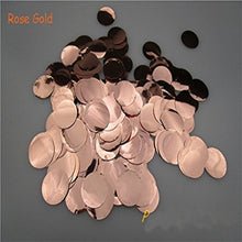 1inch=2.5CM Rose Gold Round Heart Foil Confetti 1kg/bag Wedding Birthday Balloon Paper confetti Supplies Event Party Decoration - Kesheng special effect equipment
