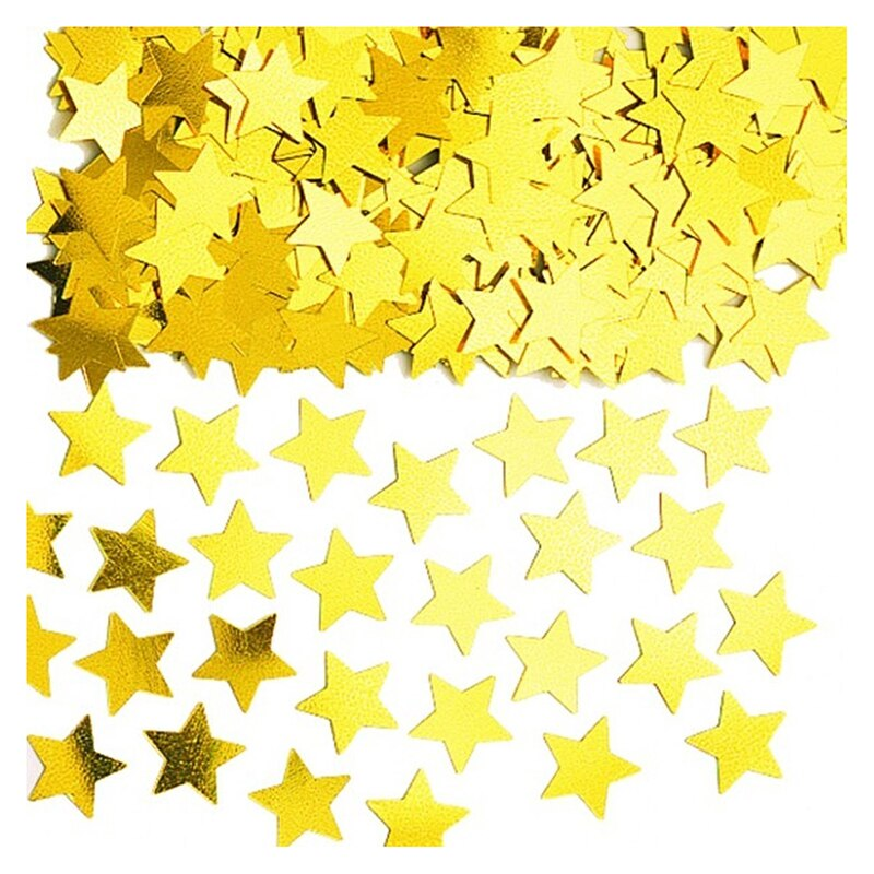 2 pack PVC Star confetti Gold - Kesheng special effect equipment